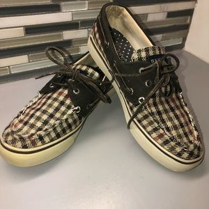 Sperry Top Sider Plaid Loafers. Size 7.5